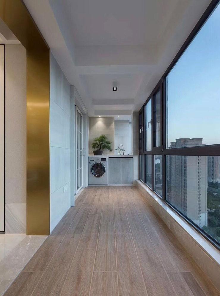 景观阳台和生活阳台合二为一,空间和功能性都大大增强了