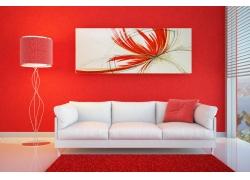 彩色客厅墙面 装修出来也这么好看