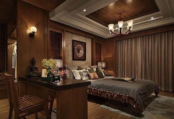 东南亚风格的卧室吊顶怎么设计好看?