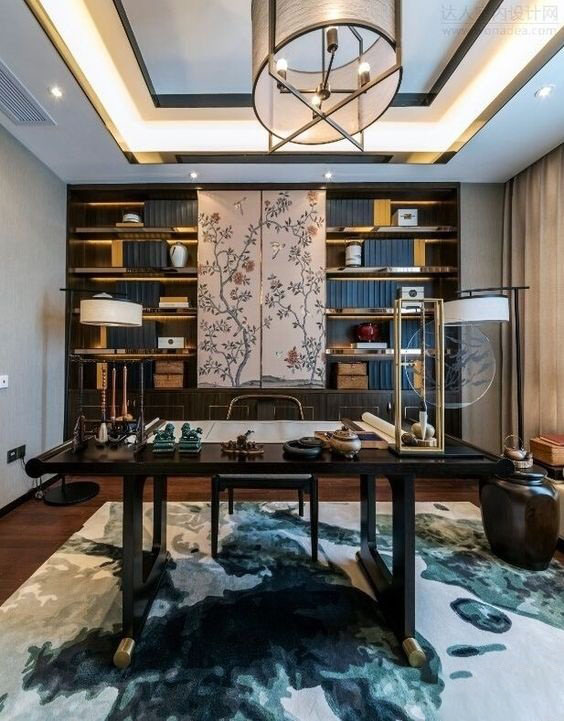 如何打造古典优雅的中式书房?