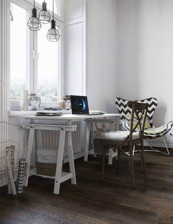45�O复式小公寓 极简黑白工业风真漂亮!