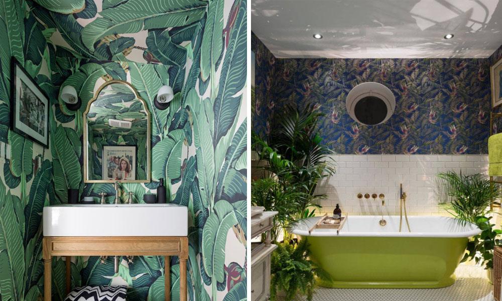 长沙装修丨用壁纸装修浴室也这么好看!