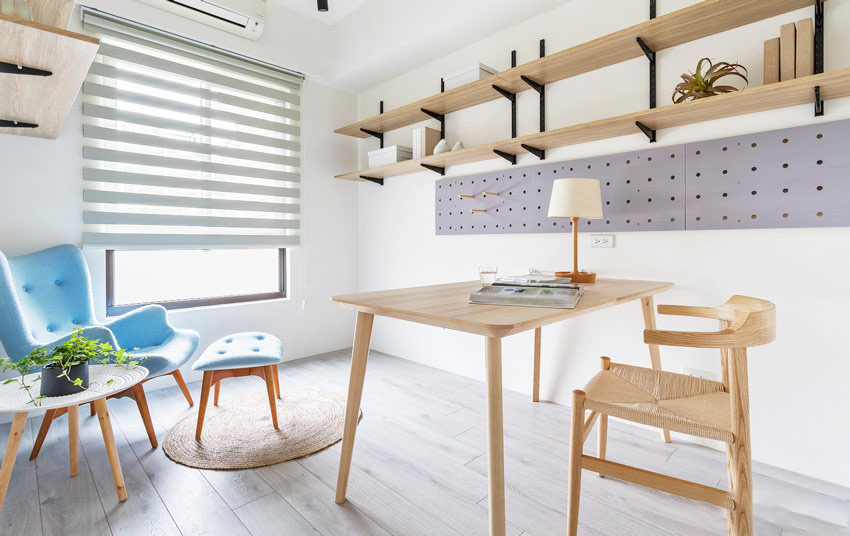 70�O公寓北欧风格装修 原木质打造清新又自然!