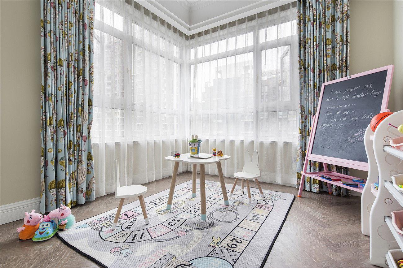 128�O三室两厅地中海风格装修 经典蓝白色搭配随性又自然!