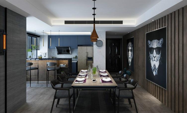 147�O现代简约风格装修 灰色调打造简约自然的三居室!