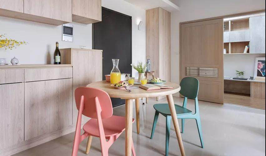 66�O浅色木元素打造 现代简约与日式风格结合清新自然!