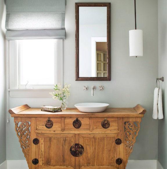 独树一帜的洗漱台装修效果图 看完后你家旧家具还会扔吗?