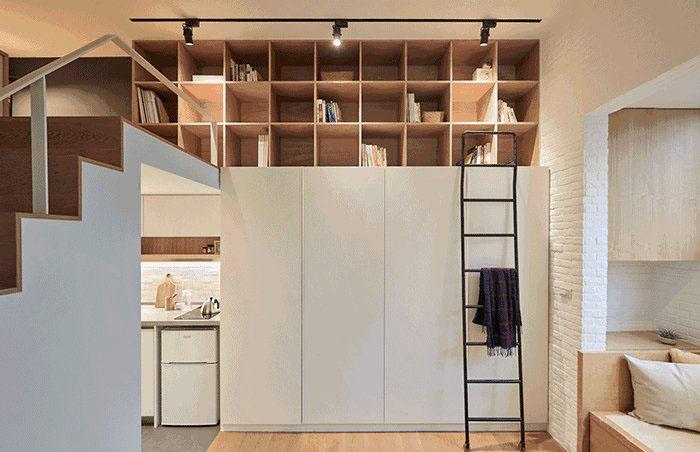 22�O迷你公寓装修效果图 全能型小空间的魅力!