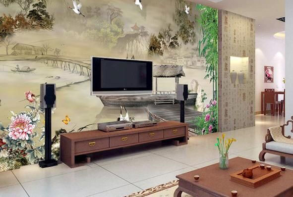 中式风格壁纸画应该怎么搭配?