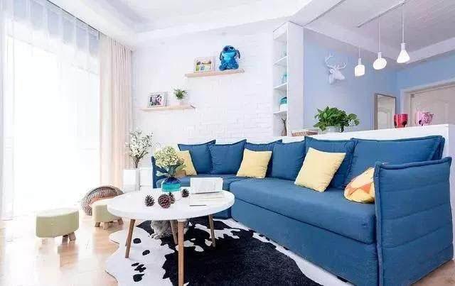 78平小户型二居室装修 不规则客厅这样设计清新又舒适!