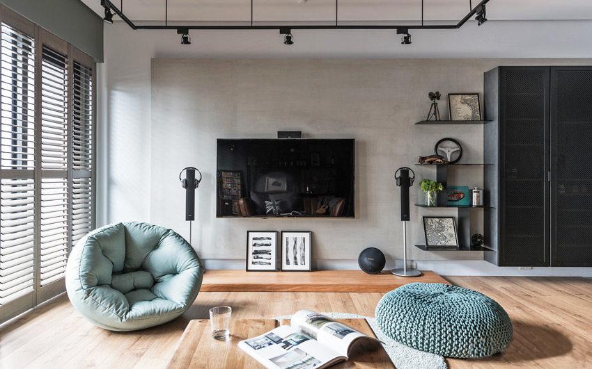 105�O住宅,现代简约风+工业风装修,一眼就喜欢上了!