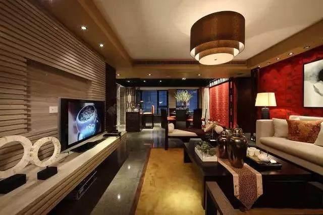 156�O中式风格装修,红色中国风与素色的碰撞,古朴与温情之家!