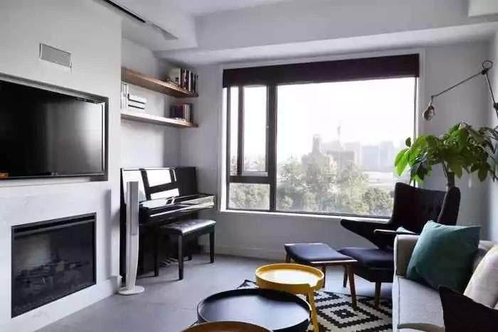 90�O北欧风格2室装修 嵌入式设计看似简单却很清爽!