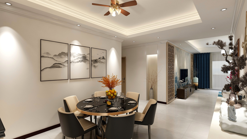 150�O新中式风格 半开放式设计呈现的奇妙空间!