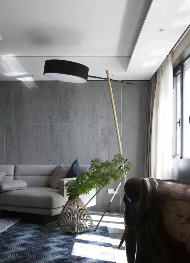 90�O现代简约风格装修 水泥板和大理石背景墙所带来的时尚前卫感!