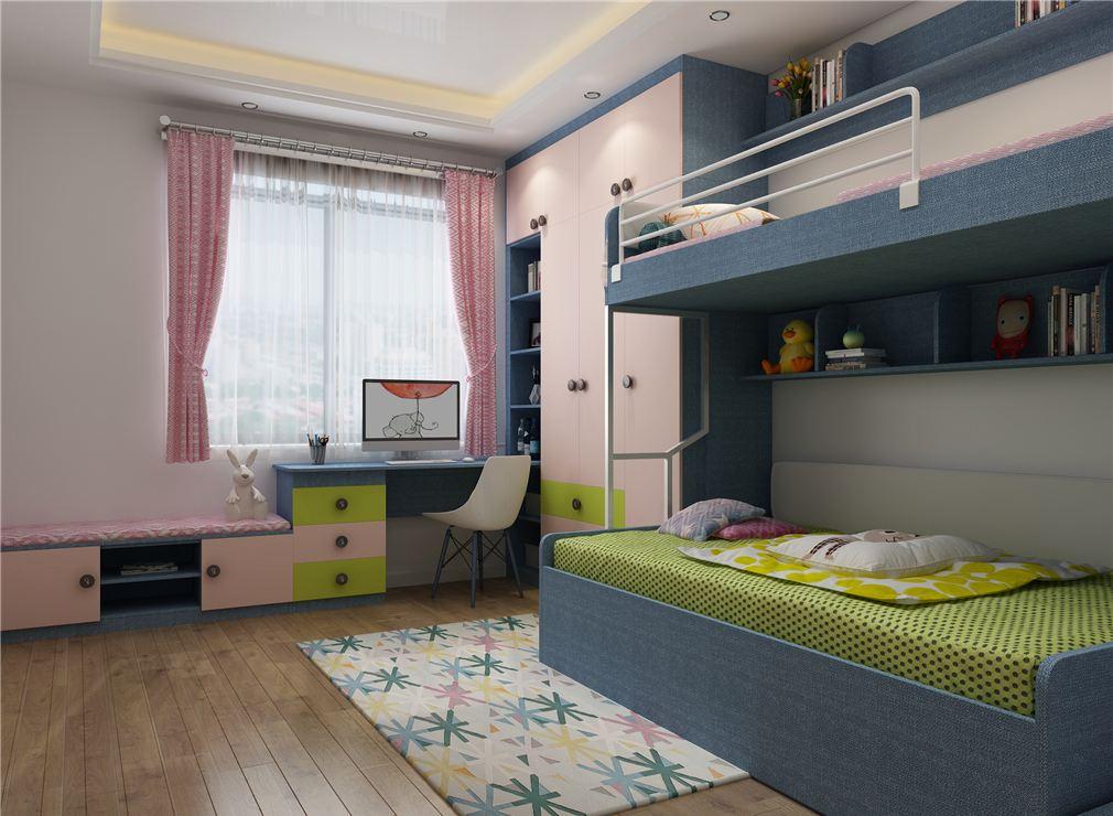 家有一儿一女的幸福家庭儿童房应该怎么装修?