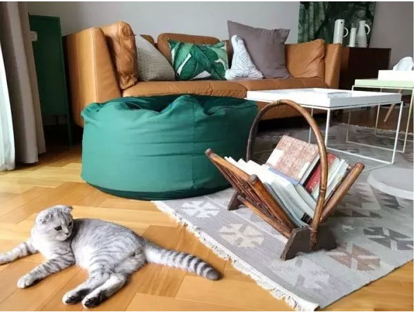 94�O现代清新之家 原木色+墨绿色搭配自然又舒适!