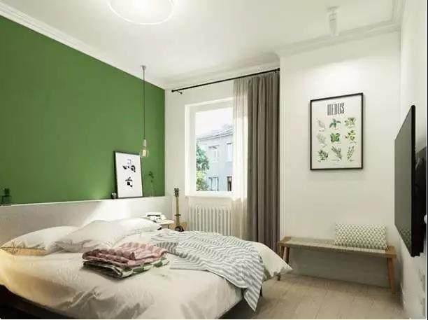85�O现代简约风格 清新的草木绿配白色 温暖温馨更清新!