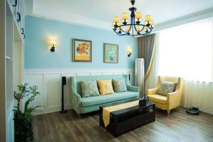 100�O现代欧式风格装修 清新的配色让家更浪漫!