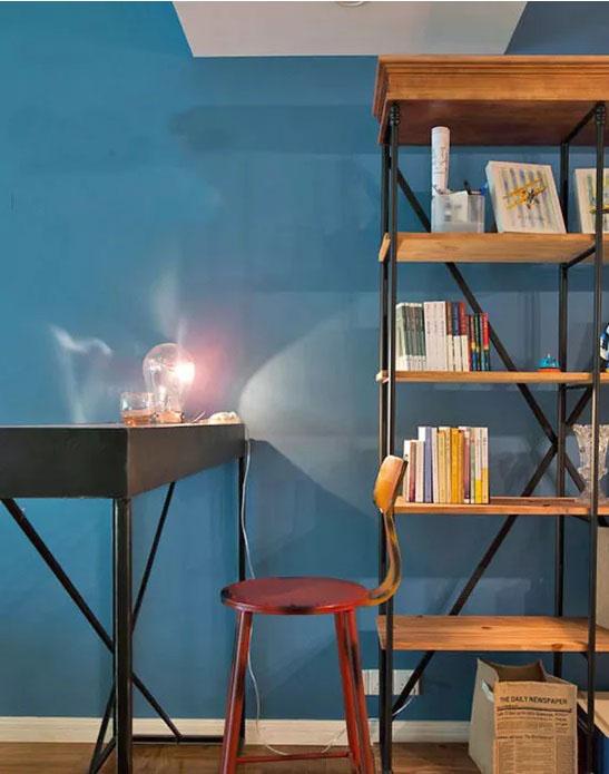 北欧风格装修效果图 蓝色配白色 简约而有型的轻文艺之家!
