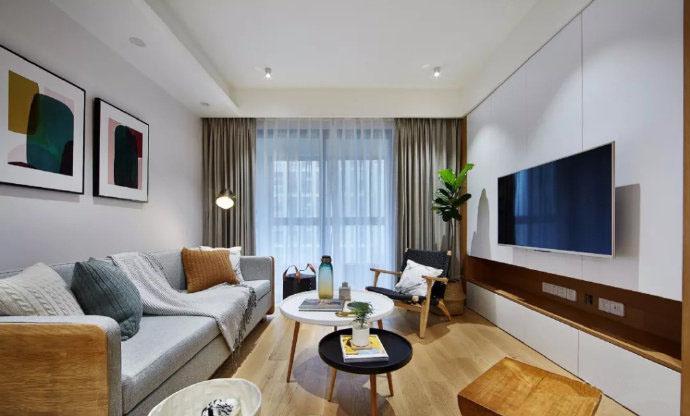89�O简约风格装修 原木风打造的温馨两居室!