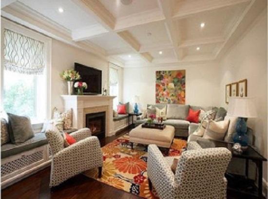 5种不同类型的客厅吊顶装修 和千思装饰一起看看哪一个适合你家