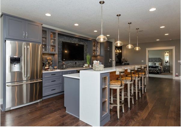 美观又大气的厨房吧台设计效果图 让家更温馨!