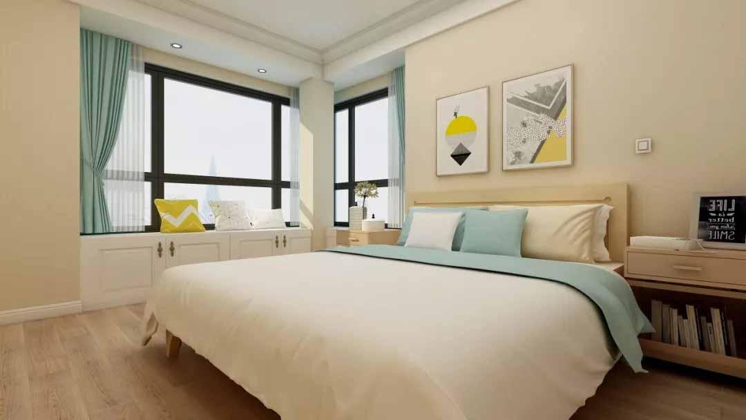 带飘窗的卧室窗帘该如何安装?卧室内还是飘窗中?
