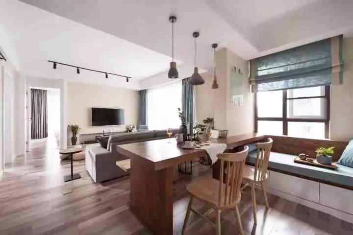 70�O简约风两居室 客餐厅集书房于一体 有颜值又舒适实用!