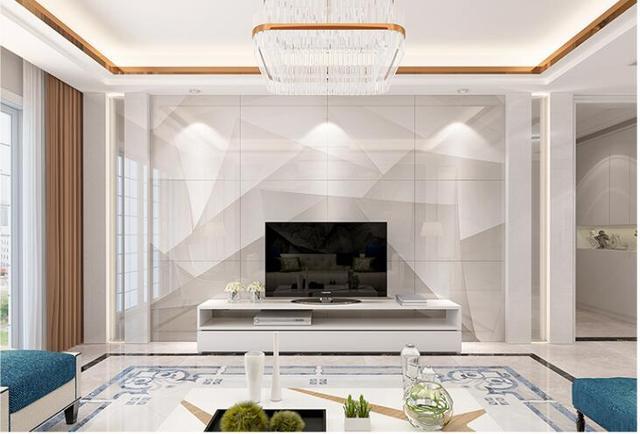 电视背景墙不够高大上?千思装饰这样装修,好看又大气!