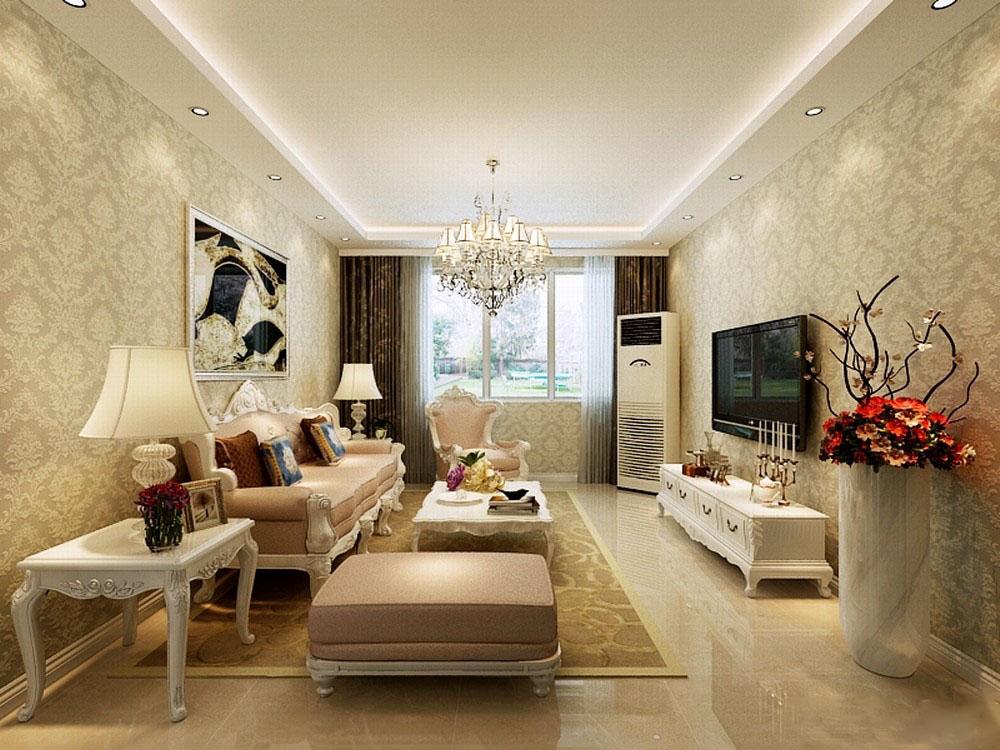 客厅墙面装修贴壁纸 什么颜色比较好