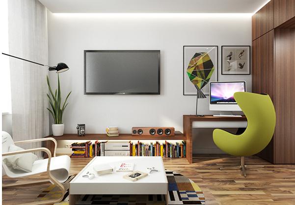 纯色的电视背景墙好看吗?电视墙刷什么颜色漂亮又耐看呢