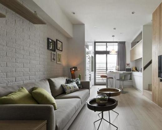 一家四口的轻松生活,60平米北欧风格小户型设计